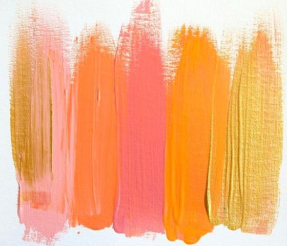 Coral Paint Palette