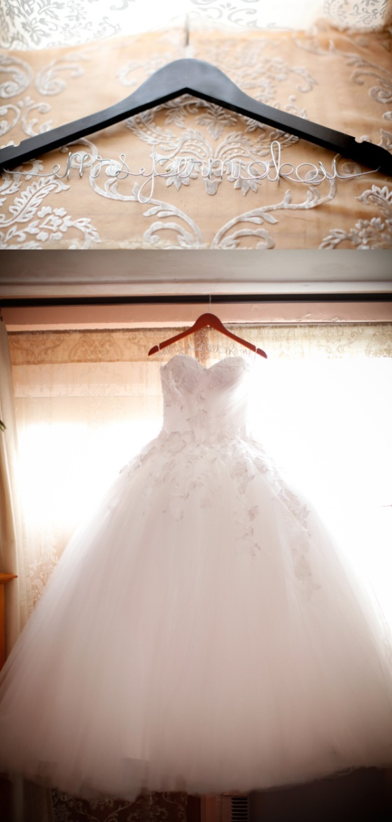 hanger wedding dress