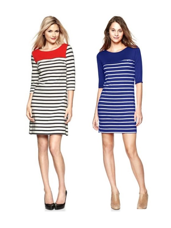 Color Block Stripe dress Gap