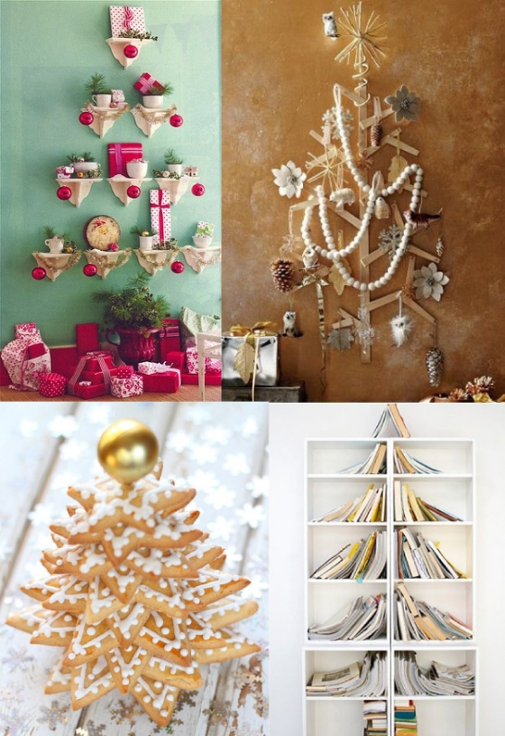 christmas tree branches decorations cookies books